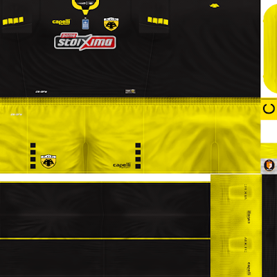 PES 6 Kits AEK Athens Season 2018/2019 by WindowOp Kitmaker