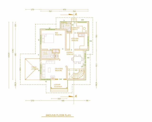 Kerala model house plans free house design plans for 2 bedroom ground floor plan