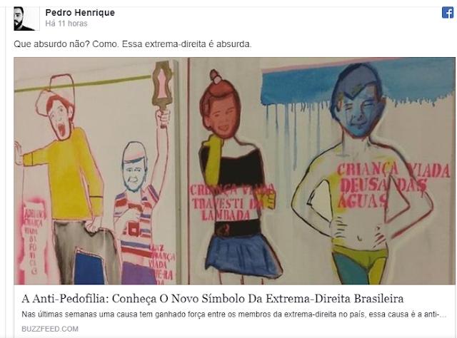"BUZZFEED APAGA POSTAGEM ONDE CONDENOU A ""A NOVA EXTREMA-DIREITA"" QUE CRITICA A PEDOFILIA"
