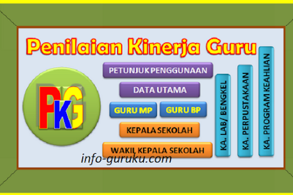 Instrumen dan Aplikasi PKG (Penilaian Kinerja Guru) Lengkap