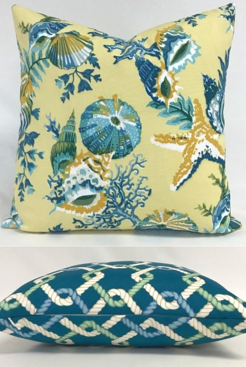 Summer Vibe Coastal Throw Pillow Cover Ideas