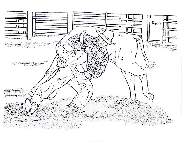 Cowboy Cowgirl Horse And Rodeo Coloring Sheets That Are Free To Print  Get Bull Rider Coloring Page And Other Rodeo Events