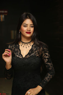 Actress Monica in spicy transparent Black Top at O Pilla Nee Valla Movie Audio Launch Feb 2017 084.JPG