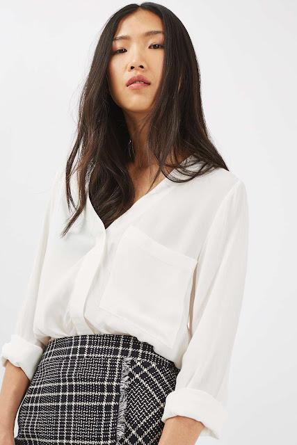 cream blouse topshop