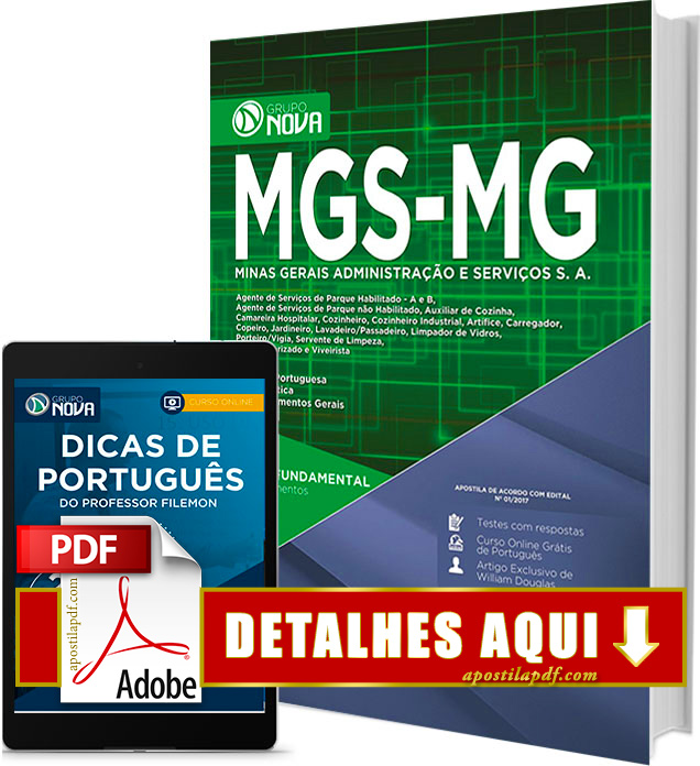 Apostila MGS MG 2017 Cargos de Nível Fundamental Impressa
