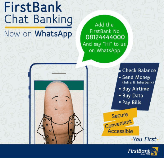 How to Use First Bank of Nigeria Chat Banking on Whatsapp