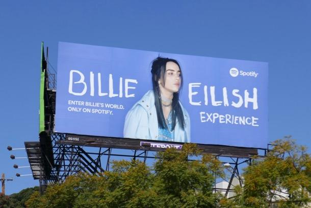 Billie Eilish Experience Spotify billboard