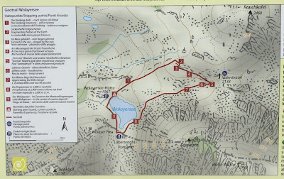 List of stops on the Wolayersee Geotrail.