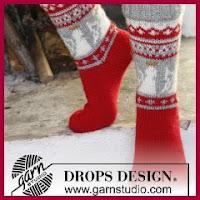 Calcetines navideños de punto