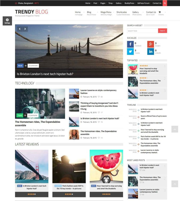 trendyblog multipurpose online publication theme