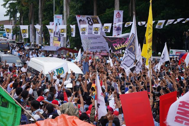 Sering Diklaim Basis 01, Begini Penampakkan Peserta Kampanye Sandi di Sulawesi