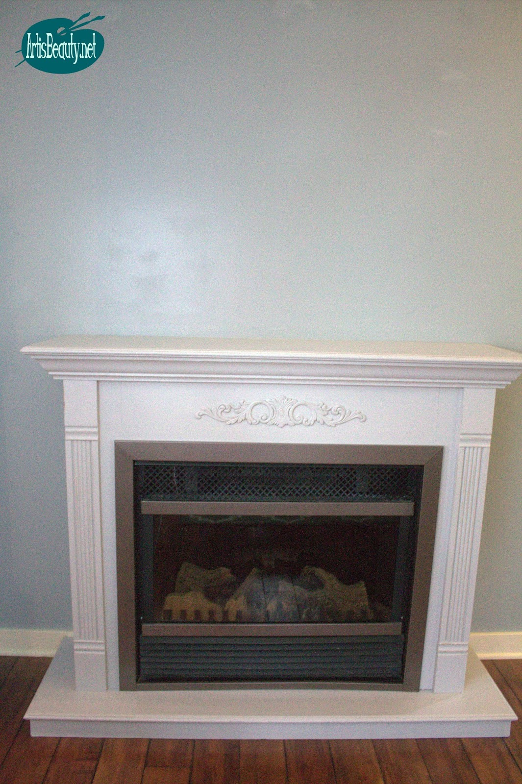 art is beauty: cheap and easy faux shiplap fireplace makeover diy for under $30