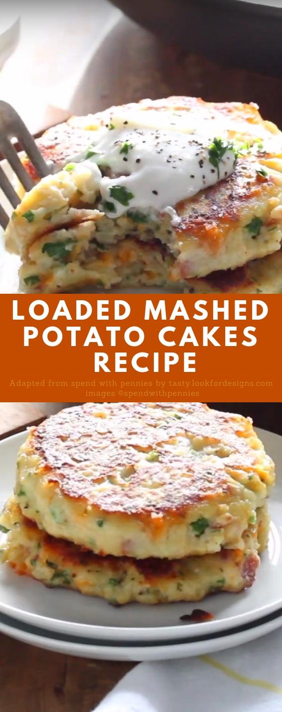 Loaded Mashed Potato Cakes Recipe