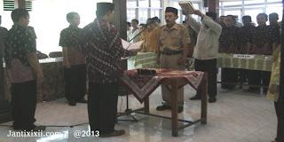 Sumpah dan pelantikan dukuh Janti Lor XI Jatisraono Nanggulan Kulon Progo