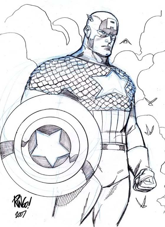 disney captain america coloring pages - photo#16