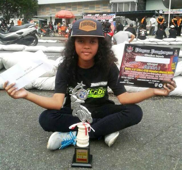 Dua Pembalap Wanita Asal Kebumen Juara di KBRI VSC Open Road Race Jogjakarta