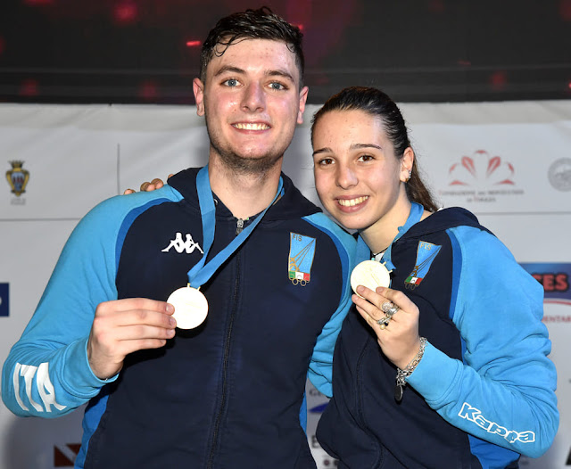 Foggia Fencing 2019. Campionati Europei Giovanili. Gli azzurrini vincono ancora l'oro. Neri e Isola sul gradino più alto del podio
