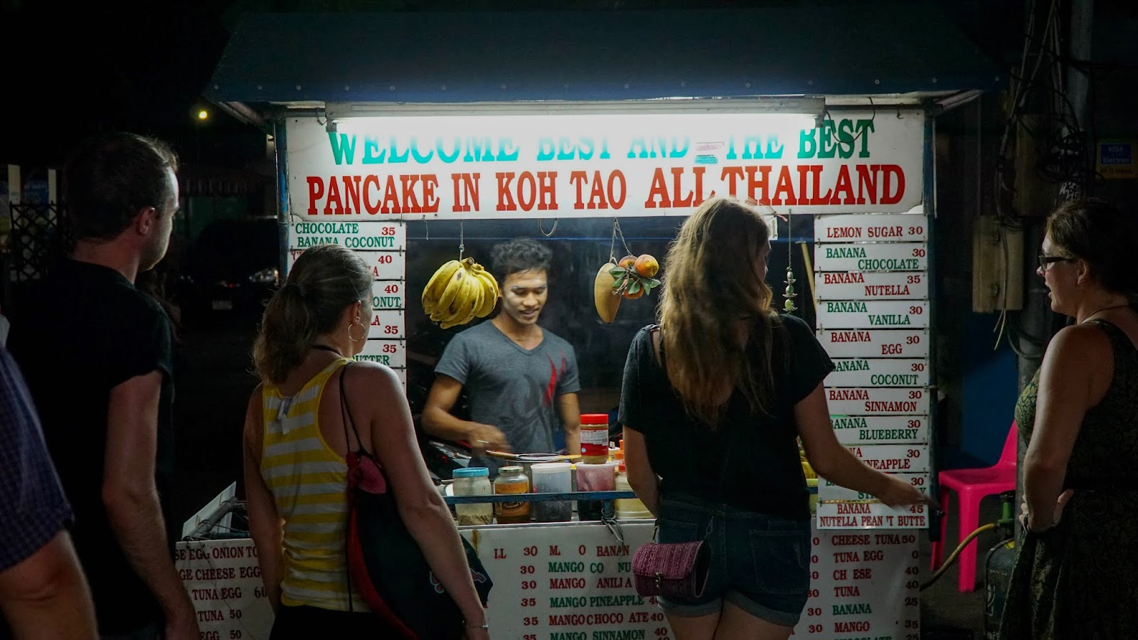 Trying out supposedly the 'best' pancake in Koh Tao. Verdict? It's passable I guess