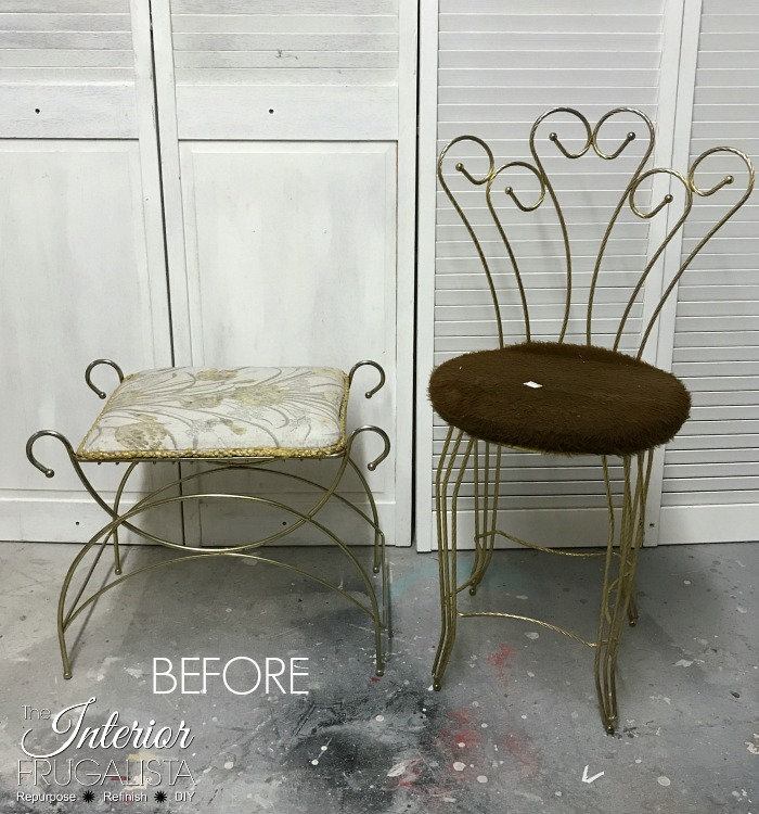 Vanity Stool Makeover Before