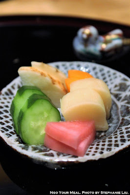 Pickled Vegetables at Kien in Tokyo, Japan