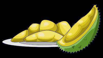 clipart buah durian gratis
