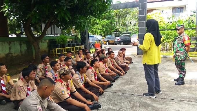Danramil 07/Kembangan Kapten Inf. Misin Beri Sosialisasi Kepada Pramuka Saka Wira Kartika