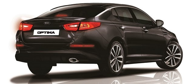 The back view of the new Kia Optima 2014 Facelift