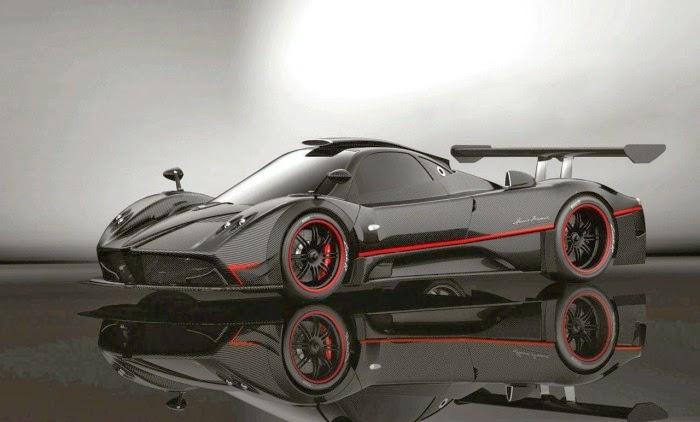 Black And Red Stripe Pagani Zonda Sports Super Car Wallpaper