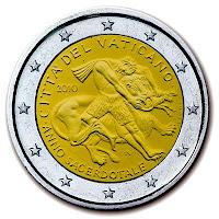 vatikaani 2 euroa kolikko 2010
