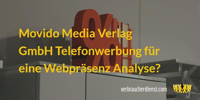 Movido Media Verlag GmbH – Telefonwerbung für eine Webpräsenz Analyse?