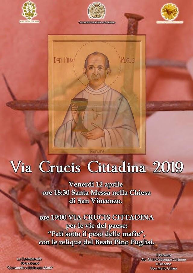 """""""Patì sotto il peso delle mafie"""" - Via Crucis Cittadina 2019"""