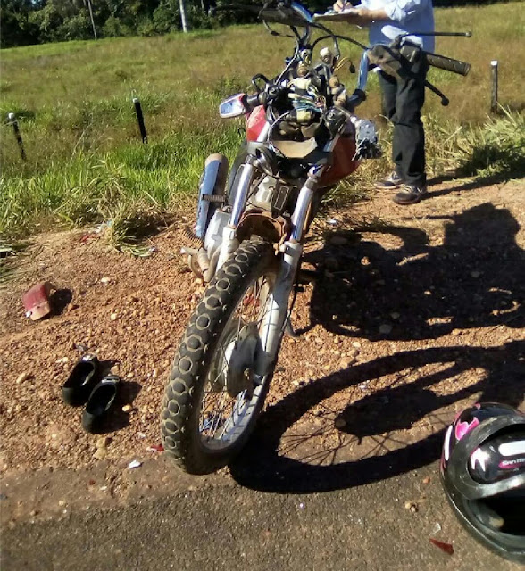 Motociclista morre ao ser atingida por carro na RO-387 em Pimenta