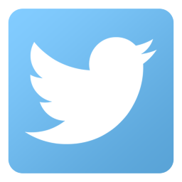 square blue Twitter bird logo