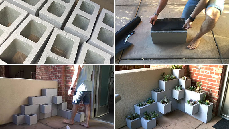 3STUNN%257E3 25 Stunning Planter Concrete Blocks Alternatives to Transform Your Backyard And That Are All Your Front Porch Needs Interior