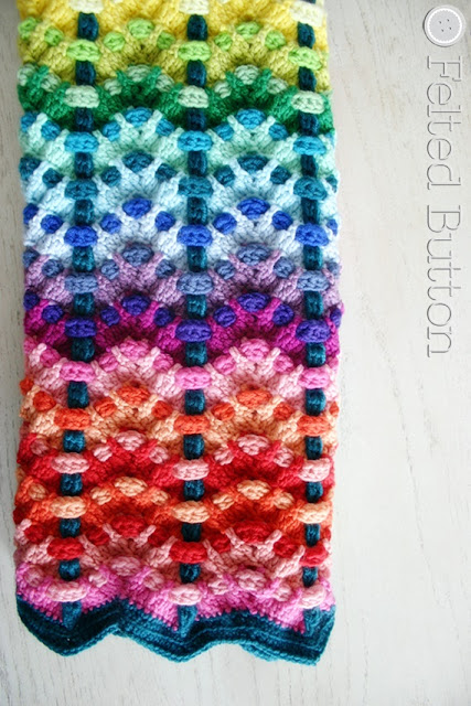 Chromatic Cobbles Blanket crochet pattern by Susan Carlson of Felted Button (Colorful Crochet Patterns)