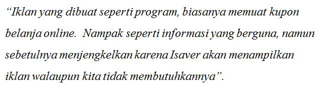 "Defini ""Ads by Isaver"" malware virus"