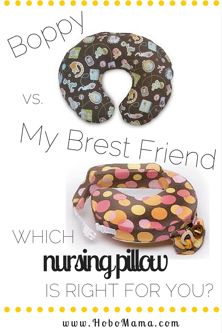 Hobo Mama: The breastfeeding pillow: Boppy or My Brest Friend?