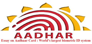 Essay on Aadhaar Card