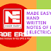 Made Easy Hand Written Notes of EE ( Electrical Engineering ) For GATE,IES, PSU and Others