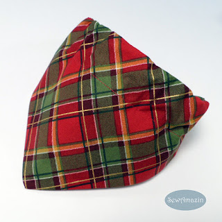 Christmas Piece Holiday Plaid Dog Bandana
