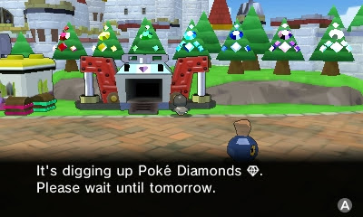 Pokémon Rumble World Diamond Digger Poké Pokemon digging up please wait until tomorrow