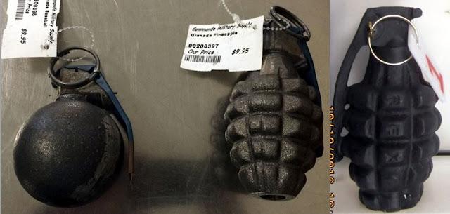 Inert hand grenades
