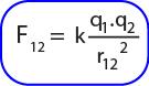 Rumus gaya coulomb pada q1 oleh q2