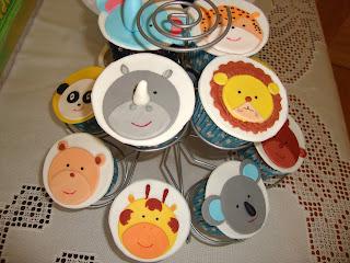 Cupcakes de mesa dulce Jungla