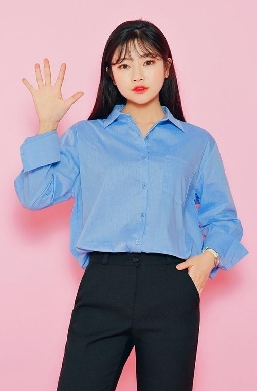 Curved Hem Patch Pocket Shirt