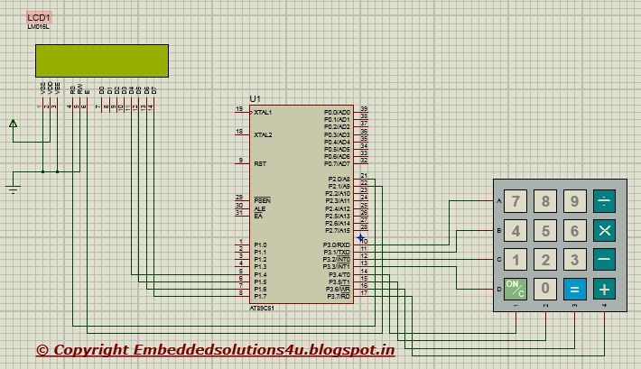 Embedded System Solution: How to interface 4x4 keypad with 8051/89c51