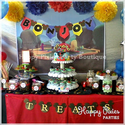 Happy Pixies Party Boutique: Bonjoy\'s {Mickey Mouse Clubhouse} 1st ...