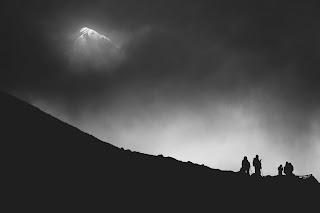 An elusive mountain summit.