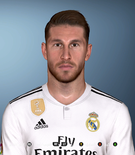 PES 2017 Faces Sergio Ramos by Facemaker Ahmed El Shenawy