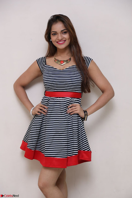 Ashwini in Spicy Short Deep Neck Dress at Pelliki Mundu Prema Katha Trailer Launch Exclusive  32.JPG